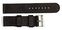 Ремінець капронову для годин 22 мм, чорного кольору