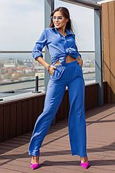 Женский брючный костюм брюки+рубашка