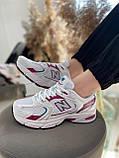 Женские кроссовки New Balance 530 White Pink MR530SF, фото 7