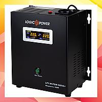 ИБП LogicPower LPY-W-PSW-500VA+ (350Вт) 5A/10A, AVR, 1 x євро, LCD, метал (4142)