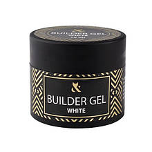 Гель F. O. X будівельний Builder Gel Cover White, білий, 15 мл