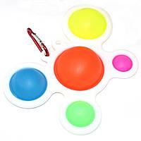Сенсорная игрушка антистресс Крабик Simple Dimple Pop It для детей и взрослых Вечная пупырка Поп Ит Симпл Димп
