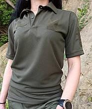Общевойсковая форменная футболка поло олива COOLPASS