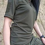 Общевойсковая форменная футболка поло олива COOLPASS, фото 2