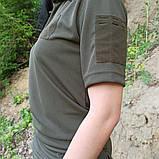 Общевойсковая форменная футболка поло олива COOLPASS, фото 3