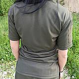 Общевойсковая форменная футболка поло олива COOLPASS, фото 4