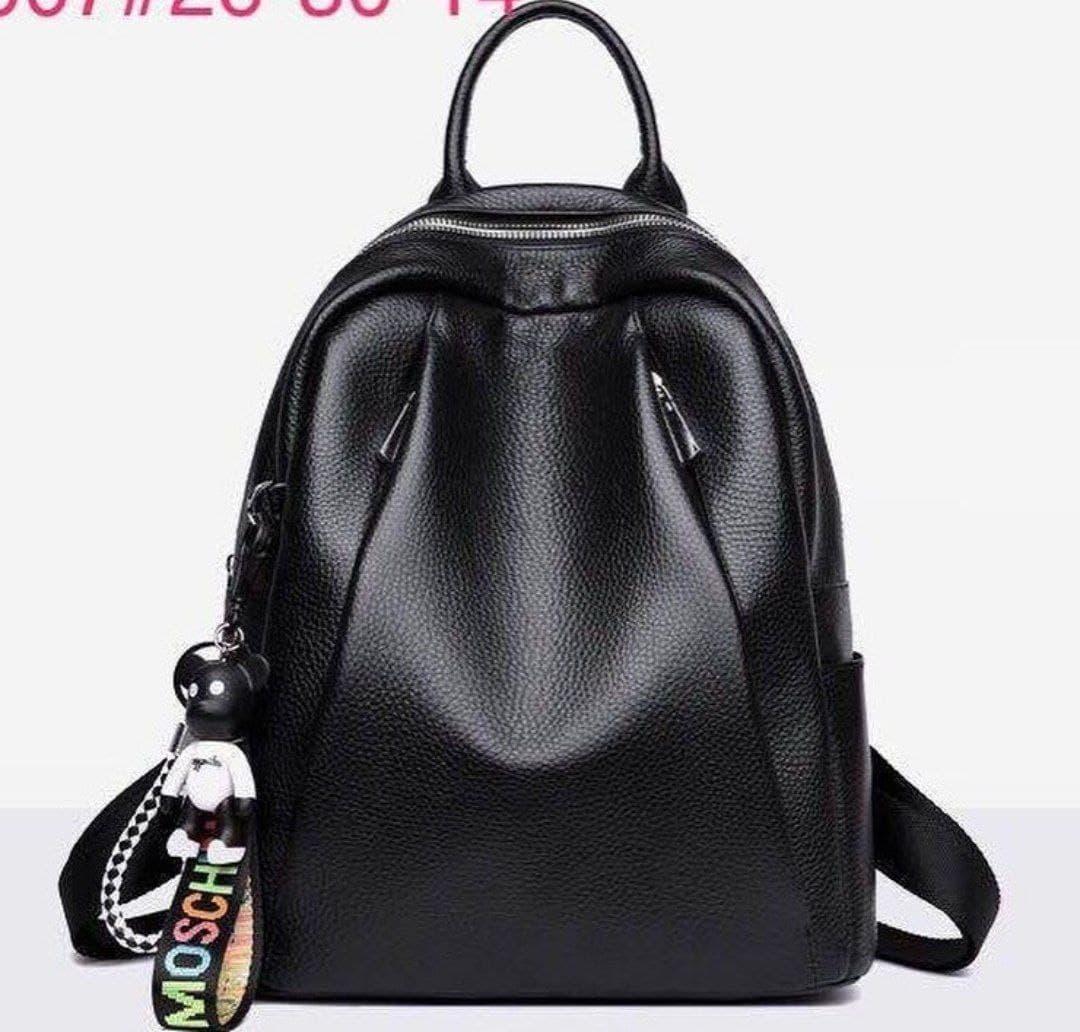 Рюкзак городской кожаный. Женский рюкзак черный из натуральной кожи (38299)