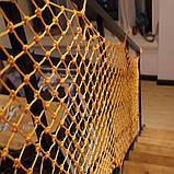 Сетка заградительная капроновая д 4 ячейка 4,5 сетка оградительная защитная сетка., фото 2