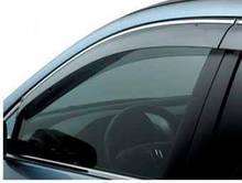 Ветровики с хром молдингом Hyundai AccentSolaris Sd 2010/Verna Sd 2010 БЕЛЫЙ Cobra Tuning