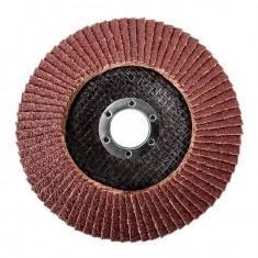 Диск шлифовальный лепестковый 125x22 мм, зерно K100 INTERTOOL BT-0210