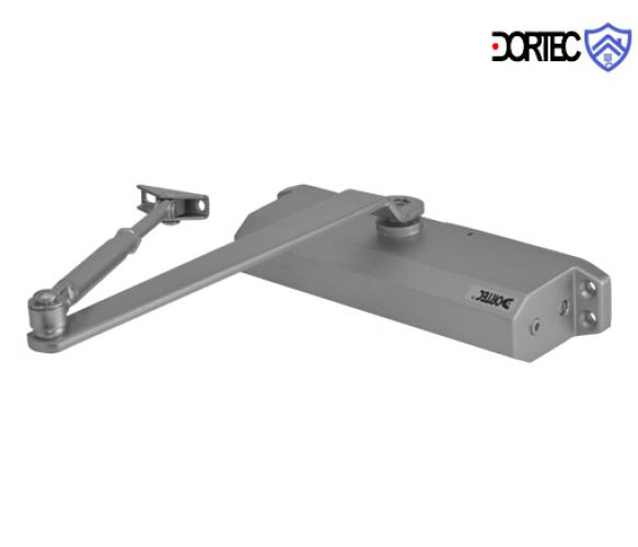 Доводчик DT-514H с фиксацией в открытом положении,45-85 кг, 248x45x72 , серебро