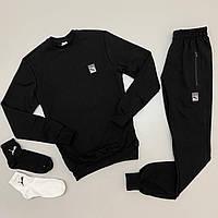 Спортивный костюм PUMA мужской свитшот LUX Реплика + носки ПОДАРОК (Размер S) Черный