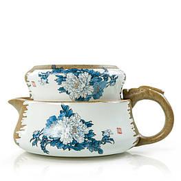 Чайник заварник с чашкой керамический 180 и 90 мл