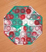 Антистрес Pop It, різнобарвний шестикутник