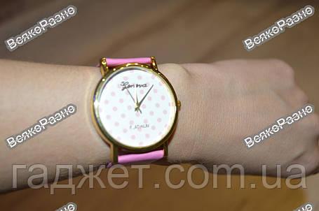 Женские часы Geneva Polka розового цвета, фото 2