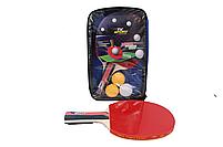 Ракетки для пінг-понгу набір для настільного тенісу TK Sport 2 ракетки + 3 кульки в чохлі, фото 2