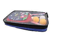Ракетки для пінг-понгу набір для настільного тенісу TK Sport 2 ракетки + 3 кульки в чохлі, фото 3