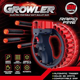 Скорострільна іграшкова зброя Glowler 28 м'яких патронів на акумуляторі