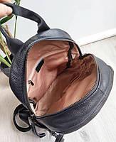 Жіночий шкіряний рюкзак. Рюкзак міський жіночий чорний (87115), фото 5