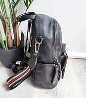 Рюкзак міський жіночий чорний. Жіночий шкіряний рюкзак (23515), фото 10