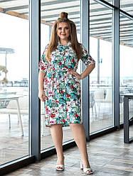 Платье - рубашка на пуговицах летнее большие размеры