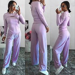 Женский костюм спортивный:кофта+ широкие свободные штаны