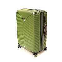 Пластикова валіза середня 65 л Snowball Robust оливкова, фото 1