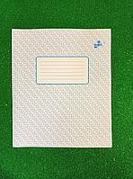 Тетрадь фоновая Бриск 12 листов косая линия