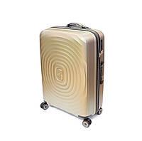 Пластиковый чемодан Snowball, на 4 колесах, большой, 103 л, шампань, фото 1