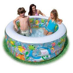 """Дитячий надувний басейн """"Акваріум"""" 58480"""
