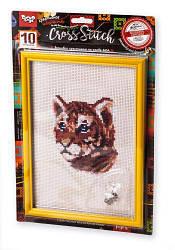 """Вишивка хрестиком на канві """"Cross Stitch: Тигр"""" VKB-01-01"""