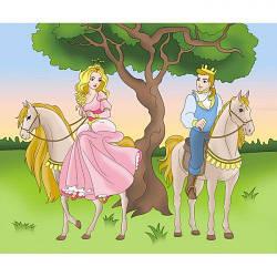 """Розпис по полотну """"Принц і принцеса"""" 7143/2"""