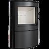 Кафельная печь-камин Kratki KOZA AB S/2 кафель черная (10,0 кВт)