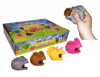 """Набір антистрес іграшок """"Динозавр з орбизами"""", 12 штук IAdino8"""