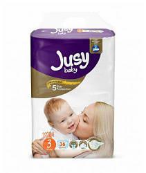 """Дитячі підгузники """"Jusy midi"""" 3 (4-9 кг) Jmidi36"""