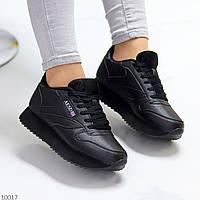 Легкі повсякденні чорні жіночі кросівки під джинси 38-24,5 см