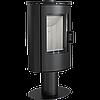 Кафельная печь-камин Kratki KOZA AB S/N/O/DR GLASS кафель черная (8,0 кВт)