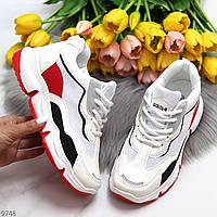 Дизайнерські миксовые білі жіночі кросівки снікерси мультиколор 37-23,2 38-23,5 39-24 см
