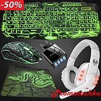 Клавиатура компьютерная с подсветкой клавиш led игровая геймерская Razer для компютера пк клавіатура usb