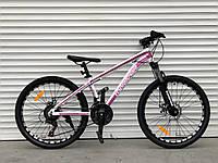 Подростковый велосипед алюминиевый 24 дюйма 14 рама Топ Райдер (ORIGINAL SHIMANO)