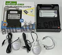 Солнечная система-фонарь CL-12-30W (фонарь,2 лампы,солн бат,USB Power bank)