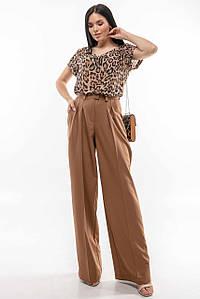 Женский летний костюм с брюками и леопардовой блузой (Феджи-Скарлет ri)