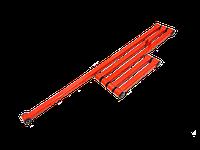 Штанги реактивные (тяги) задней подвески Ваз 2103, 2106 (Спорт усиленные)(квадратные красные) (к-т 5шт)