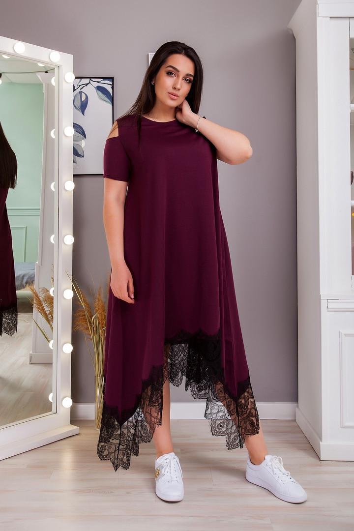 Жіноча літня вільна сукня батал, 50-52