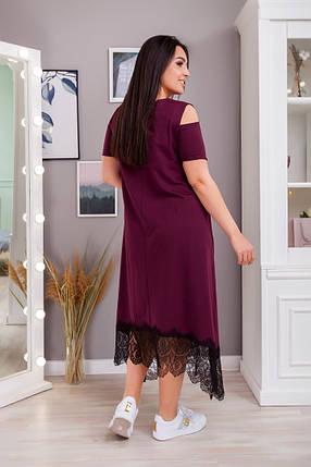 Жіноча літня вільна сукня батал, 50-52, фото 2