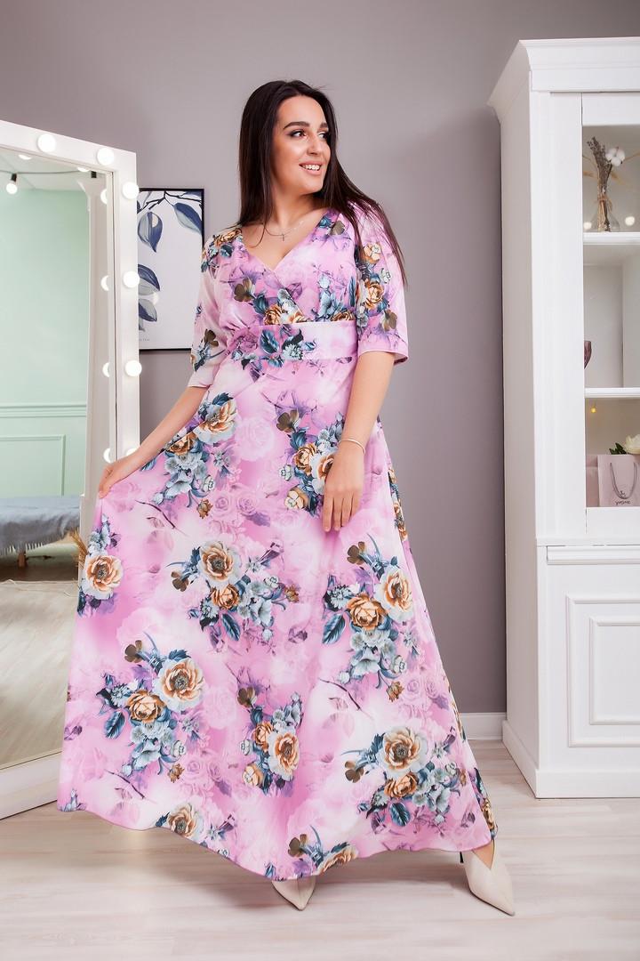Жіноча літня сукня великого розміру, 50-52