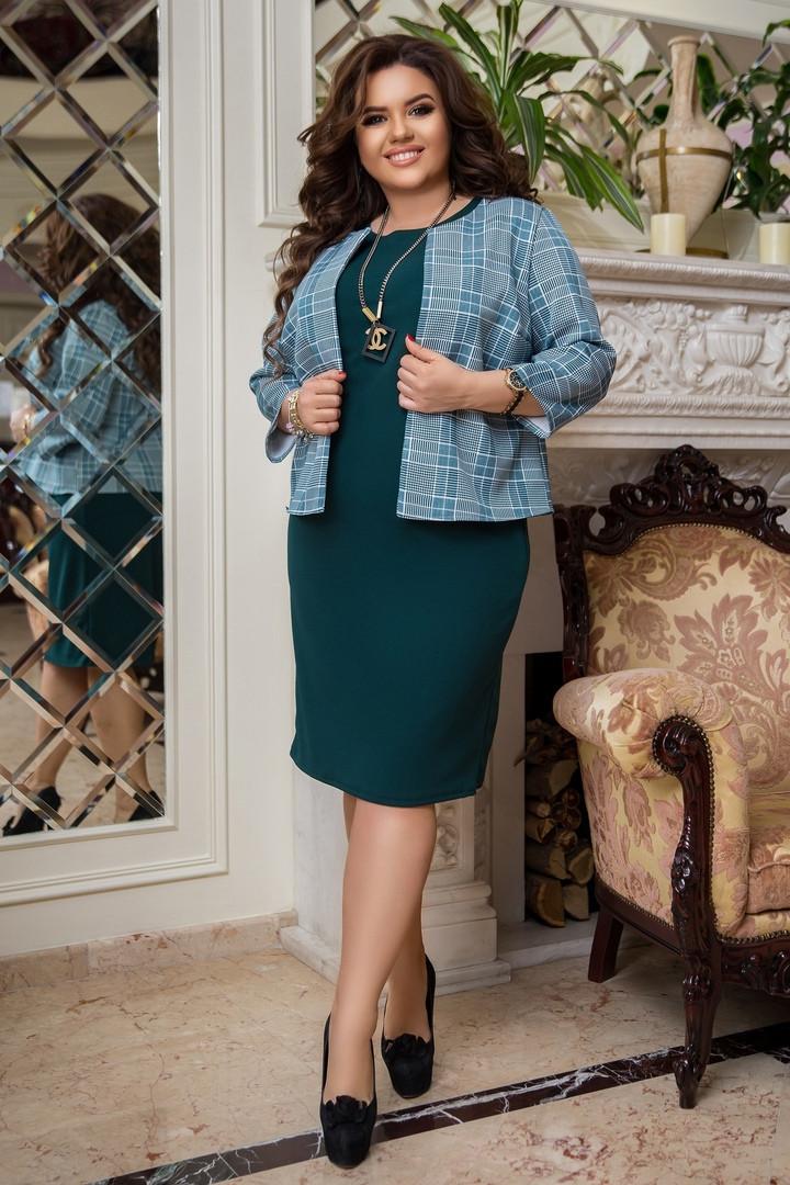 Жіноча сукня з піджаком батал, 50-52