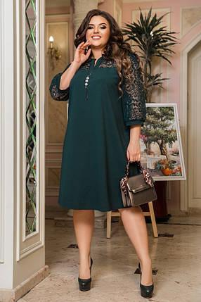 Жіноча вечірня сукня великих розмірів, 50-52, фото 2