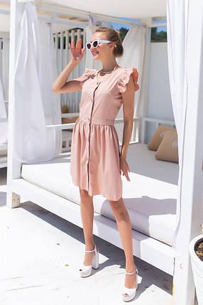 Жіноча бежева літня сукня, 42-44, фото 2