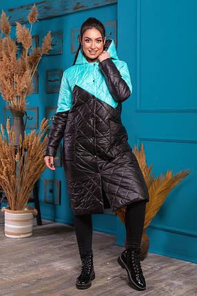 Жіноче зимове пальто батал, 48-50, фото 2